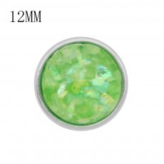 12MM snap charms With Green shell KS9721-S interchangable snaps jewelry