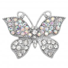 Butterfly 20MM snap charms Silver Plated with Colorful rhinestone  KC9212  snaps jewelry