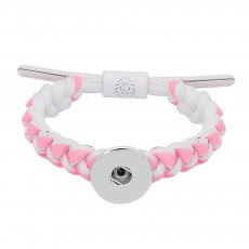 1 buttons Pink Rope  KC0512  new type Bracelet fit 20mm snaps chunks