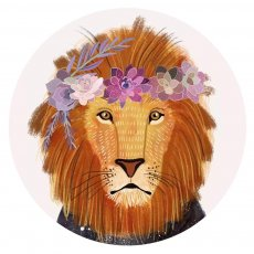 20MM  design Lion Painted enamel metal C5926 print  charms snaps jewelry