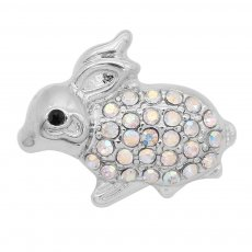 20MM Rabbit snap with colorful rhinestone KC8083 charms snaps jewelry