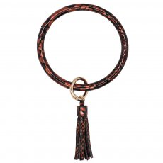 colorful color leather Big ring bangle Key Ring Key Chain tassel bracelet(Random delivery of colours)