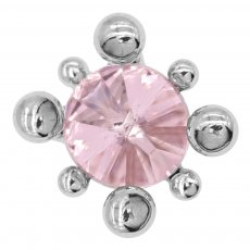 20MM design snap silver plated with pink rhinestone charms KC8088 snaps jewelry