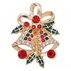 20MM Christmas snap gold Plated with rhinestone and enamel KC9248 charms snaps jewelry