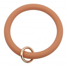 brown Silica gel Big ring bangle Key Ring Key Chain bracelet