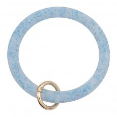 blue shiny Silica gel Big ring bangle Key Ring Key Chain bracelet