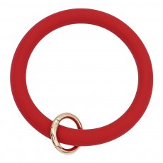 dark red Silica gel Big ring bangle Key Ring Key Chain bracelet