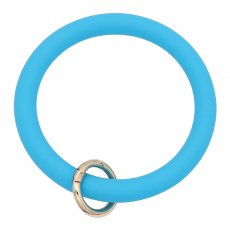blue Silica gel Big ring bangle Key Ring Key Chain bracelet
