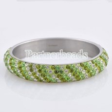 Five rows rhinestone stainless steel bangle Bracelet