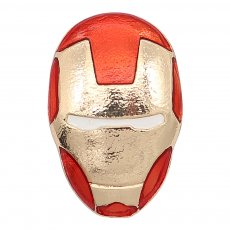20MM Cartoon design Iron Man métal plaqué or mousqueton émail KC9274 charmes Rouge