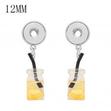 1 buttons KS1298-S with Small Pendants Lemon tea new type Earrings fit 12mm snaps chunks