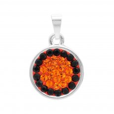 Pendant with Black and orange  rhinestones