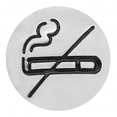 20MM No smoking snap Silver Plated charms KC8176 snaps jewerly