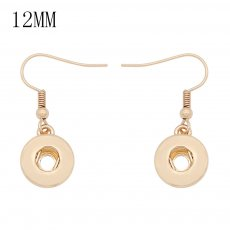 snap Fashion gold Earrings with pendant fit 12MM snaps style jewelry KS1302-S