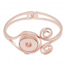 Bracelet jonc à pression Rose Gold fit 20MM Snaps Style KC0523