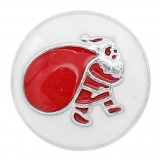 20MM Christmas snap Silver Plated with  Enamel charms KC9356 snaps jewerly