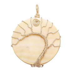 Natural shell Tree of life gold Pendant of necklace