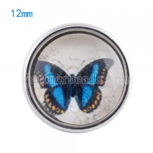 12MM snaps glass of Butterfly KT0053 interchangable snaps jewelry