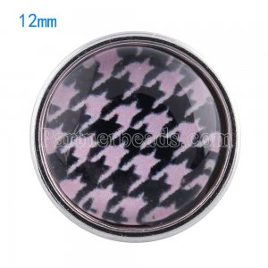 12MM snaps glass of design KT0047 interchangable snaps jewelry