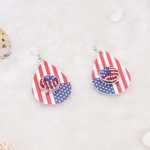 Independence Day snap earring fit 20MM snaps style jewelry KC0880