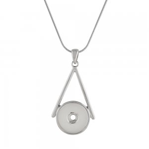 Pendant sliver Necklace with 45CM chain KC1047 snaps jewelry