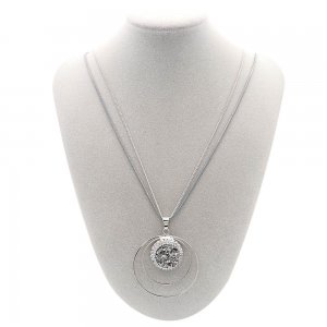 pendant Necklace with 80CM chain KC1305 fit 20MM chunks snaps jewelry