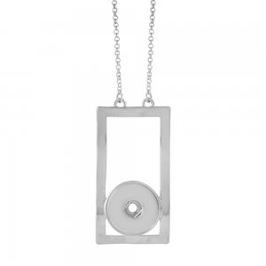 Pendant sliver Necklace with 60CM chain KC1049 snaps jewelry