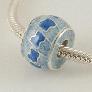 partner sterling silver cloisonne beads with Enamel