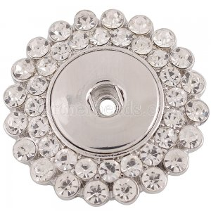 1 snaps button interchange brooch plating sliver with Rhinestones KC1130 snaps jewelry