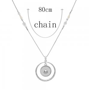 pendant Necklace with 80CM chain KC1301 fit 20MM chunks snaps jewelry