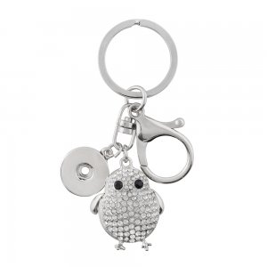 Alloy fashion Keychain with pendant and buttons fit snaps chunks KC1193 Snaps Jewelry