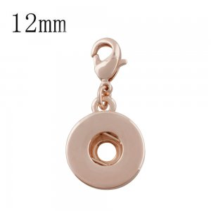 Lobster clasp snap Rose Gold Pendant fit 12MM snaps style jewelry KS0343-S