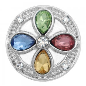 20MM design snap Silver Plated with colorful rhinestone KC7995 snaps jewelry