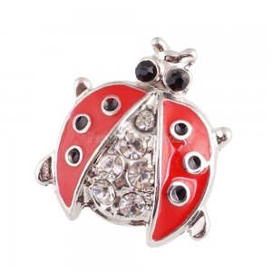 16MM snaps chunks with  red enamel interchangeable jewelry
