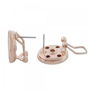 snap Rose Gold earring fit18&20MM snaps style jewelry KC1056