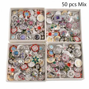50pcs/lot Snap buttons 20mm High Quality Level Mix types MixMix colors