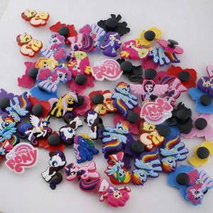 10pcs/set parts for kid junior style silicone bracelet  Mixed color pattern random delivery