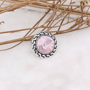 20MM snap Oct. birthstone pink KC6583 interchangable snaps jewelry