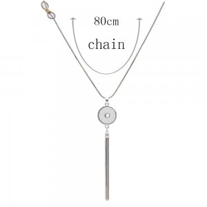 pendant Necklace with 80CM chain KC1308 fit 20MM chunks snaps jewelry