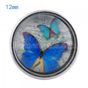 12MM snaps glass of Butterfly KT0050 interchangable snaps jewelry