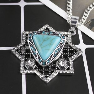 20MM Triangle snap Antique Silver Plated with rhinestone and Turquoise stone KB8664 snaps jewelry