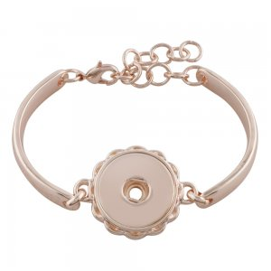 1 buttons snaps rose gold bracelet fit 18&20MM snaps chunks