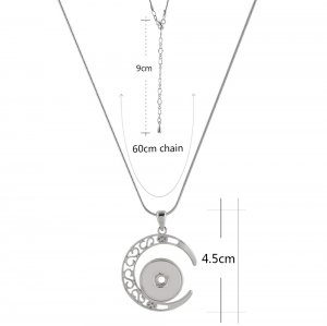 Pendant sliver Necklace with 60CM chain KC1045 snaps jewelry