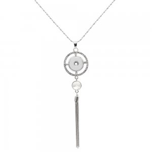 pendant Necklace with 80CM chain KC1307 fit 20MM chunks snaps jewelry