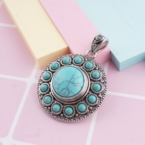 18MM snap Turquoise Semi-precious stones KB2603 interchangable snaps jewelrysnaps
