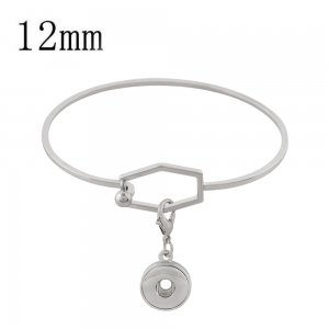 1 buttons snap copper bracelet with detachable pendant fit 12MM snaps jewelry KS1211-S