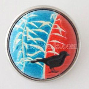 18MM natural stone snaps Artificial Painted KB1035 snaps jewelry