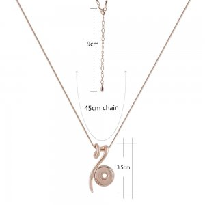 Rose Gold  Necklace with 45CM chain KS1164-S fit 12mm snaps jewelry