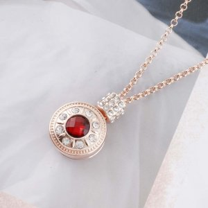 20MM design Rose-Gold Plated with red faceted crystal KC9770 snaps jewelry