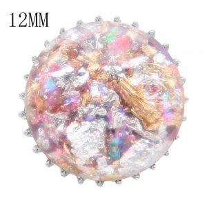 15MM Thick glossy round colorful Amber snap 12MM small system fit KS7023-S snaps jewelry